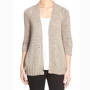 Eileen Fisher Sweater Open Straight Cut Cardigan